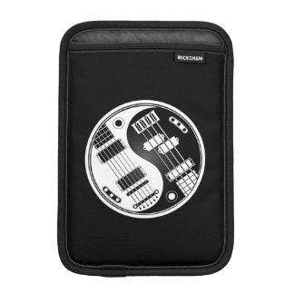White and Black Guitar and Bass Yin Yang iPad Mini Sleeve