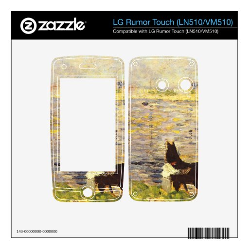 White and black horse in the river by Seurat Skins For LG Rumor Touch