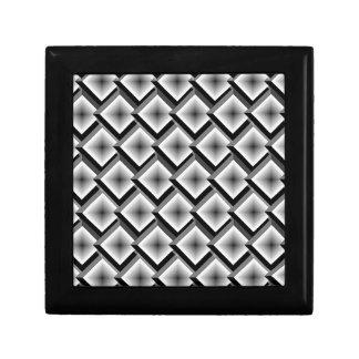 White and Black Layered Diamonds Keepsake Box