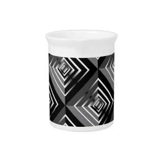 White and Black Layers Drink Pitcher