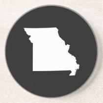 White and Black Missouri Sandstone Coaster