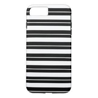 White and Black Monochrome Stripes iPhone 8 Plus/7 Plus Case