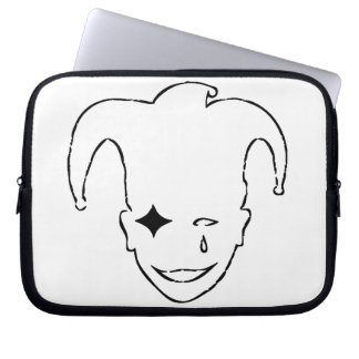 White And Black MTJ Laptop Sleeve