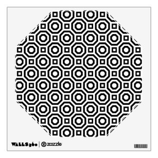 White and Black Nested Octagon Wall Decal