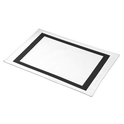 White and Black Placemat