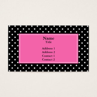 White and Black Polka Dot Pattern Business Card