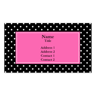 White and Black Polka Dot Pattern Double-Sided Standard Business Cards (Pack Of 100)