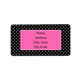 White and Black Polka Dot Pattern Personalized Address Labels