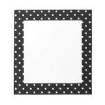 White and Black Polka Dot Pattern Memo Pad