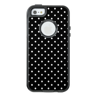 White and Black Polka Dot Pattern OtterBox iPhone 5/5s/SE Case