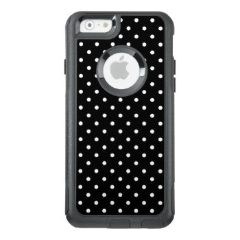 White And Black Polka Dot Pattern Otterbox Iphone 6/6s Case by KarinaandCleo at Zazzle