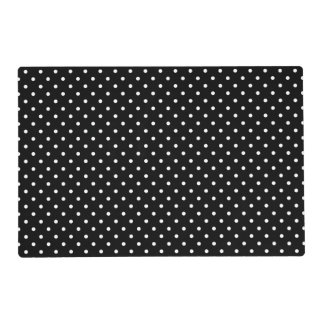 White and Black Polka Dot Pattern Placemat