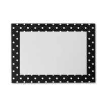 White and Black Polka Dot Pattern Post-it Notes