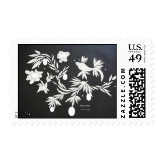 """""""White and Black"""" Postage Stamp"""