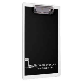 White and Black Professional Simple Clipboard