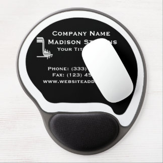 White and Black Professional Simple Gel Mouse Pad
