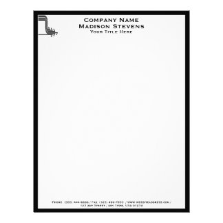 White and Black Professional Simple Letterhead