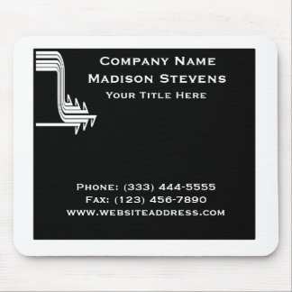 White and Black Professional Simple Mouse Pad
