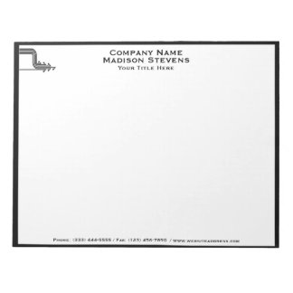 White and Black Professional Simple Notepad