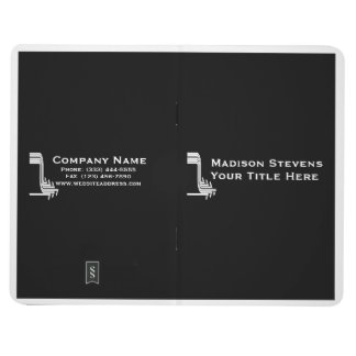 White and Black Professional Simple Pocket Journal