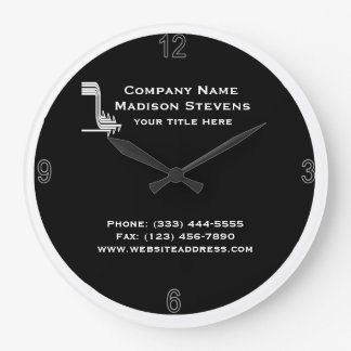 White and Black Professional Simple Wall Clock