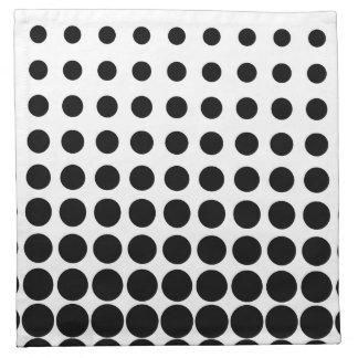 White and Black Progressive Dots Cloth Napkin