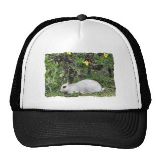 White and Black Rabbit Trucker Hat