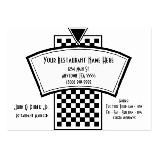 White And Black Restaurant Business Cards