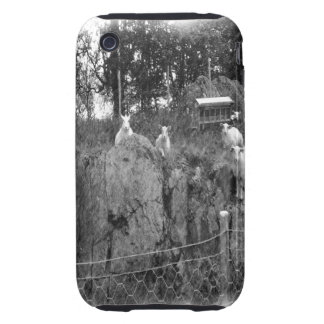 White and black sheep drawing iPhone 3 tough case