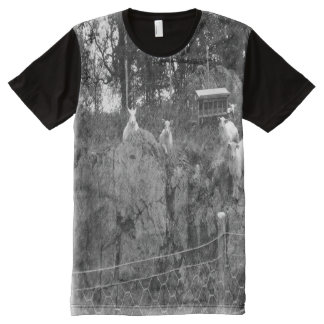 White and black sheep drawing effect All-Over print t-shirt