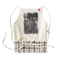 White and black sheep drawing zazzle HEART apron