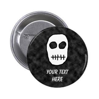 White and Black Skull. Primitive. Button