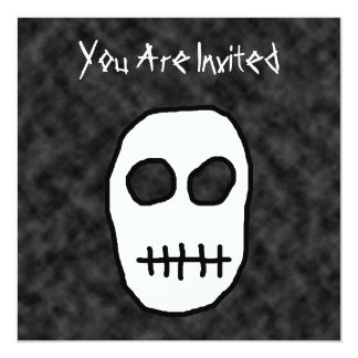 White and Black Skull. Primitive. Card