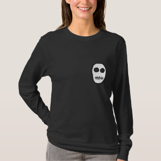 White and Black Skull. Primitive. T-Shirt