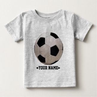 White and Black Soccer Ball Baby T-Shirt