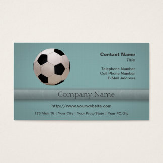 White and Black Soccer Ball Business Card