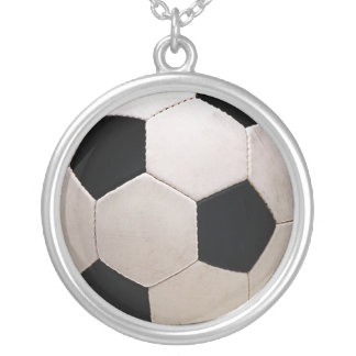 White and Black Soccer Ball Custom Necklace