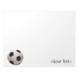 White and Black Soccer Ball Notepad