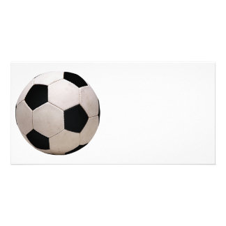 White and Black Soccer Ball Photo Card
