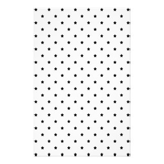 White and Black Star Pattern. Flyer