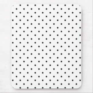 White and Black Star Pattern. Mouse Pad