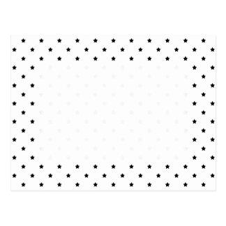 White and Black Star Pattern. Postcard