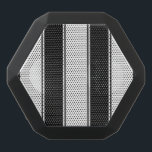 """White and Black-Stripe Bluetooth Speaker<br><div class=""""desc"""">White and orange stripes? Check. Now your speakers look as good as they sound. Rock on.</div>"""