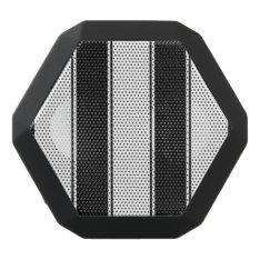 White And Black-stripe Bluetooth Speaker at Zazzle