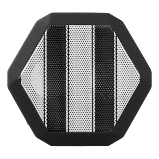 White and Black-Stripe Bluetooth Speaker