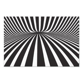 White and black stripes photo print