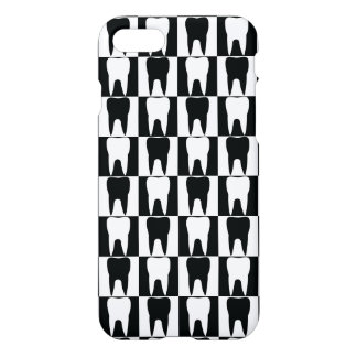 White and black teeth pattern iPhone 8/7 case