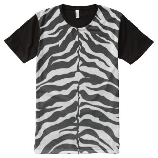White And Black Tiger All-Over-Print Shirt