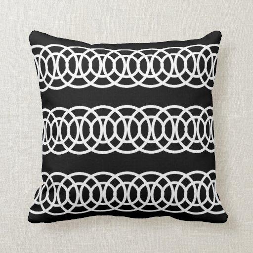 Black And White Decorative Throw Pillows : White and Black Trellis Decorative Throw Pillow Zazzle