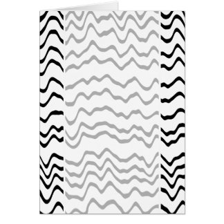 White and Black Waves Pattern. Card